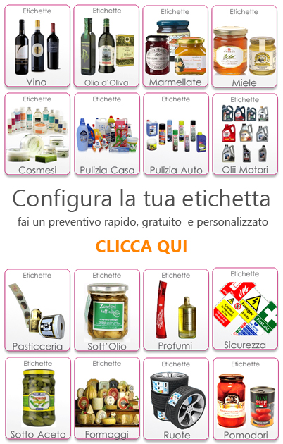 Favoloso www.stampareetichette.it - Stampa etichette adesive personalizzate  KK75